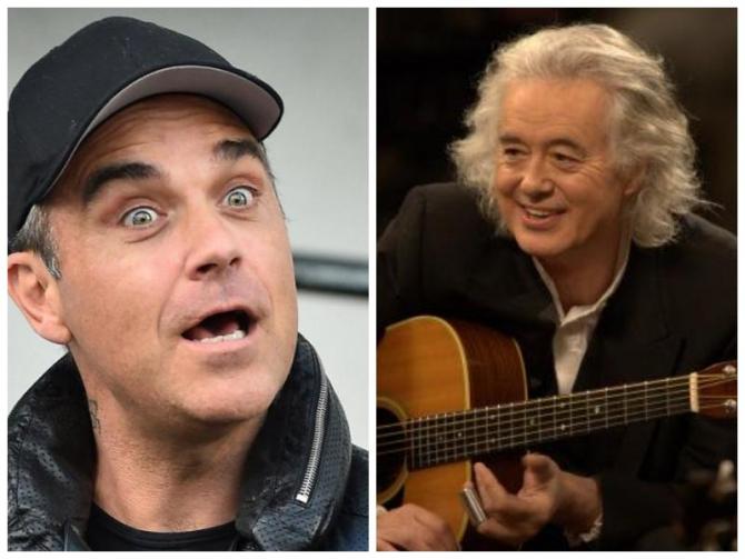 Robbie Williams - Jimmy Page, războiul decibelilor. Au ajuns la exasperare