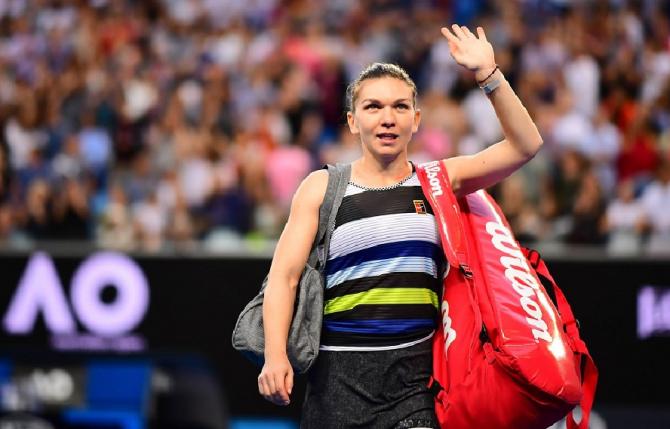 Simona Halep, victorie. foto: @AustralianOpen