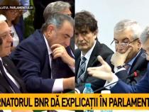 """Isărescu și Zamfir, replici: """"Ați zis așa"""" / """"Nu a fost declarația..."""