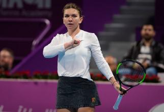 SimonaHelap în finala la Doha 2019. foto: @simonahalep