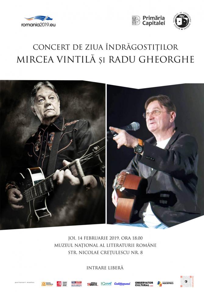 Ziua îndrăgostiților, concert gratuit cu Mircea Vintilă și Radu Gheorghe