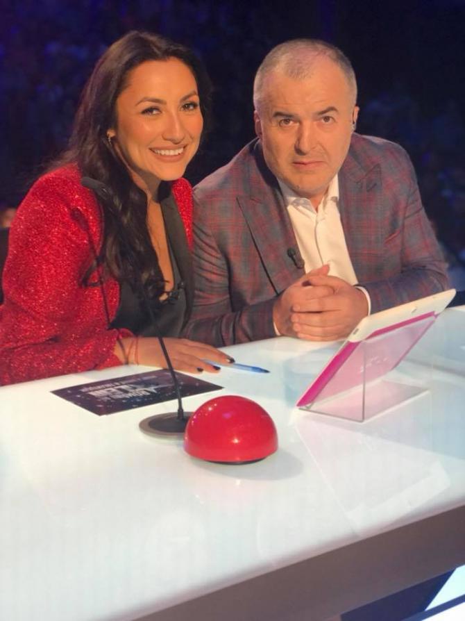 Florin Călinescu, alături de Andra