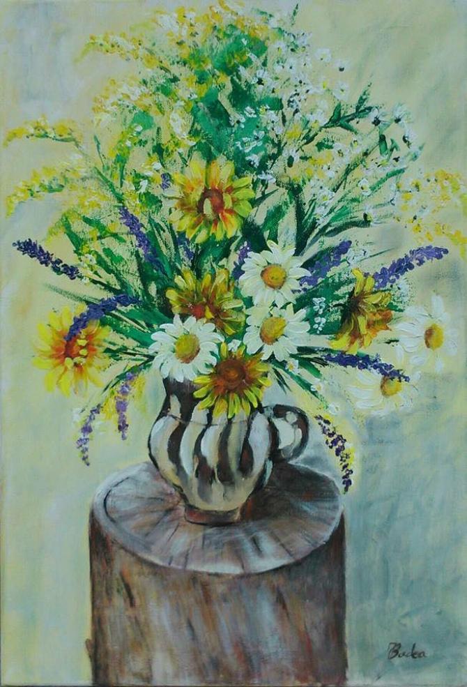 Vază cu flori de câmp, Ioana Badea.