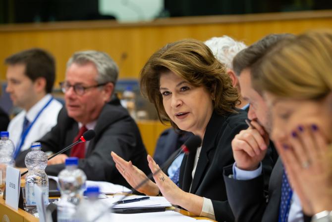 Rovana Plumb, la Bruxelles, în cadrul primului trialog