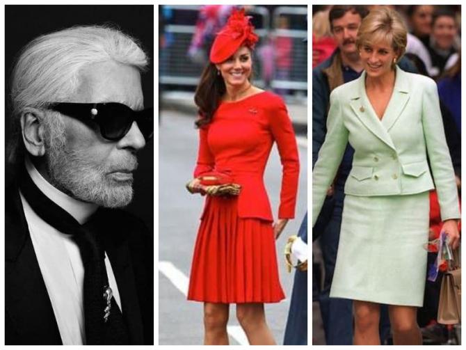 Karl Lagerfeld şi familia regală, o lungă istorie a modei