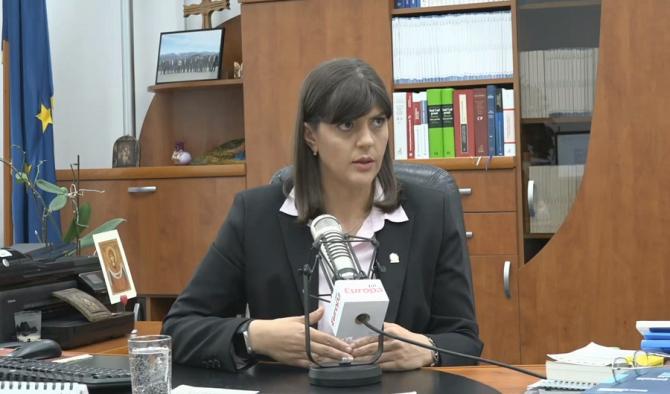 Laura Codruța Kovesi. Captura video Europa FM