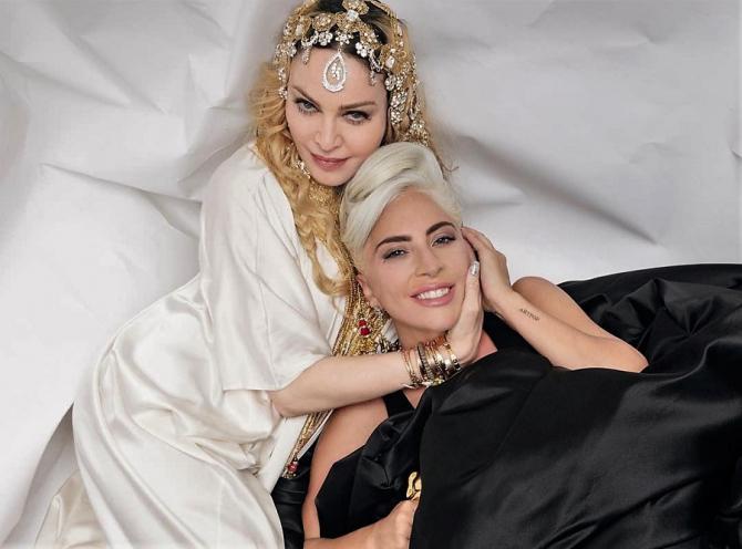 Madonna şi Lady Gaga, imagine virală. Rivalitate de 8 ani