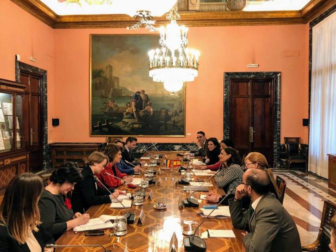 Madrid. Întâlnirea oficială dintre delegația României cu oficialii spanioli
