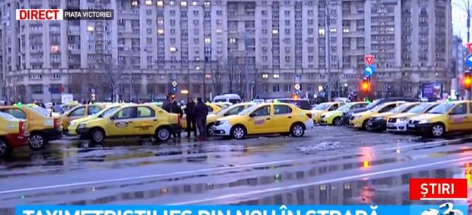 Protest taximetriști