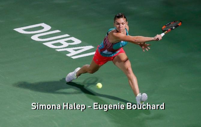 Dubai 2019. SIMONA HALEP - EUGENIE BOUCHARD, LIVE. Rezultat final