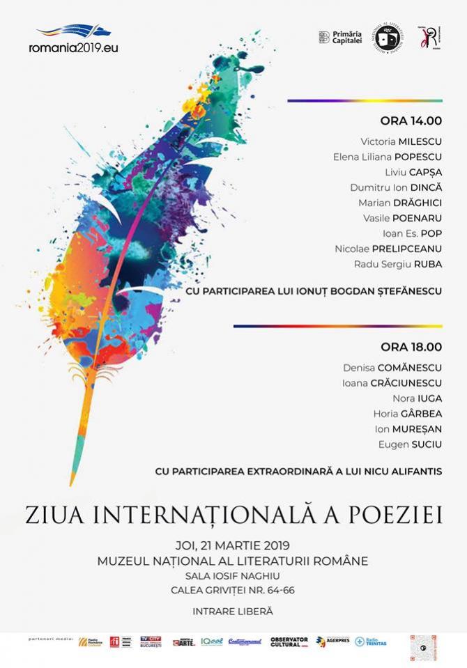 Recital de Ziua Internațională a Poeziei, la Muzeul Literaturii