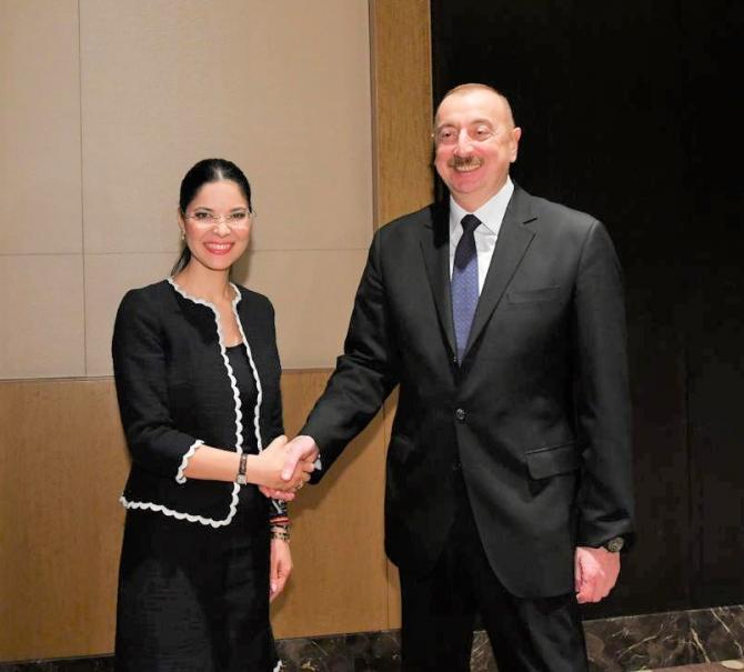 Împreună cu președintele Republicii Azerbaidjan, Ilham Aliyev