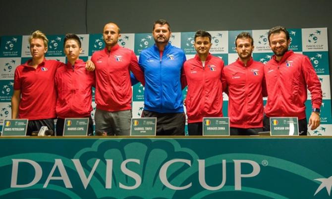 Echipa României de Cupa Davis pentru meciul cu Zimbabwe. foto: FRT