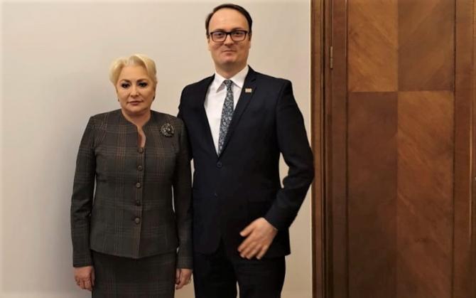 Viorica Dăncilă, întâlnire cu Alexandru Cumpănașu (CNMR)