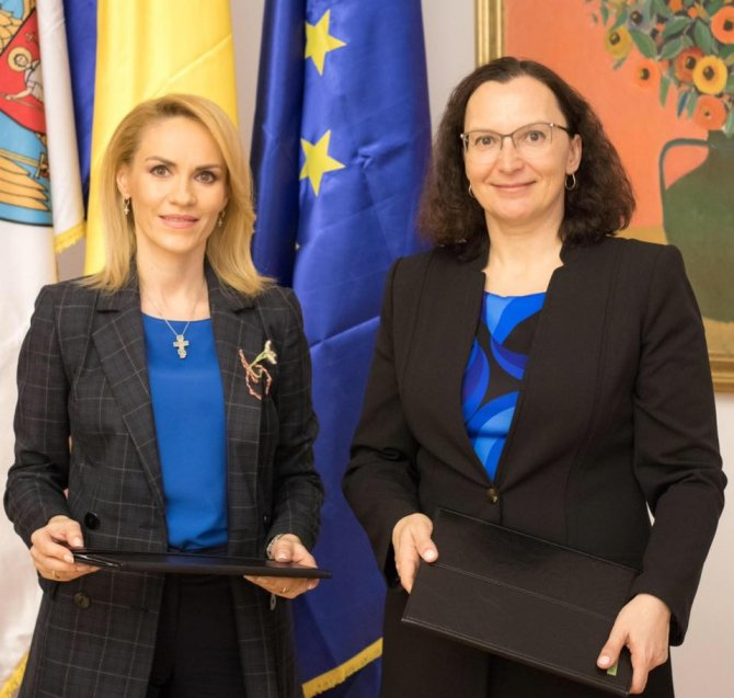 Gabriela Firea și Tatiana Proskuriakova
