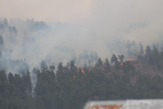 ARHIVĂ. Incendiul, la primele ore după declanșare