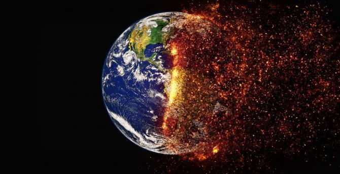 Incălzirea globală și schimbările climatice asupra Pământului, dramatizare