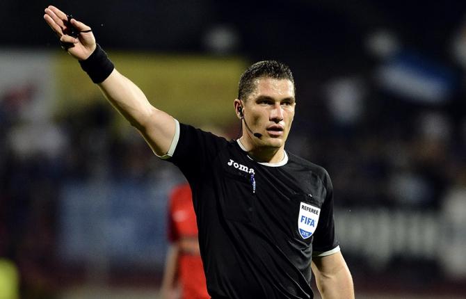 Arbitrul român Istvan Kovacs va conduce partida dintre selecţionatele Franţei şi Islandei. foto: frf.ro