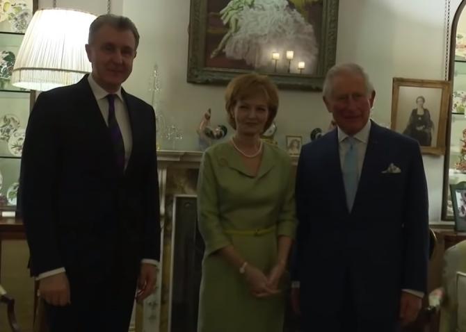 Majestatea Sa Principesa Margareta alături de prințul Charles și Principele Radu