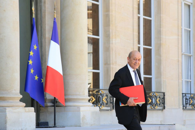 Jean-Yves Le Drian, ministrul de externe al Frantei