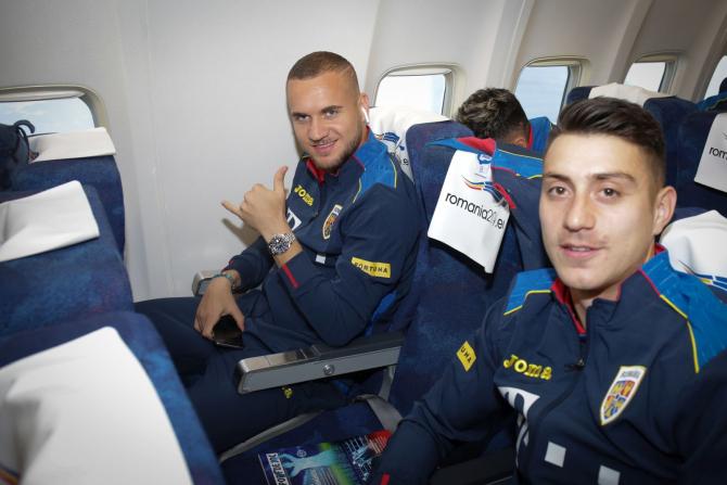 Naționala Românieie a ajuns la Stockholm pentru meciul cu Suedia. foto: FRF