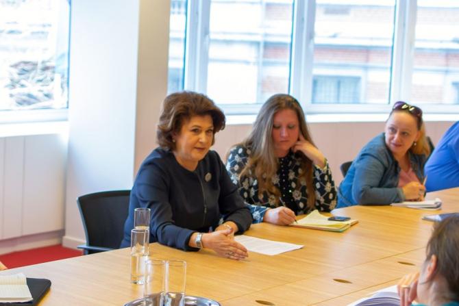 Ministrul Rovana Plumb speră ca negocierile de la trialog să fie finalizate săptămâna aceasta cu un acord. FOTO: Ministerul Fondurilor Europene