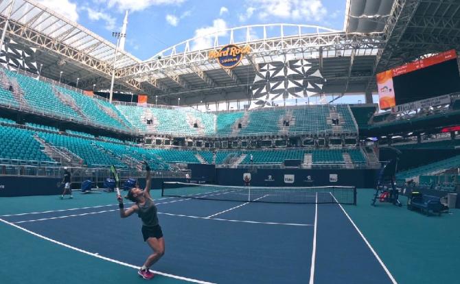 Simona HAlep, Miami open 2019. foto: @Simona_Halep / Twitter