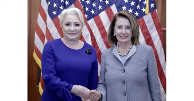 Întrevederea prim-ministrului României, Viorica Dăncilă, cu președintele Camerei Reprezentanților din Congresul SUA, Nancy Pelosi