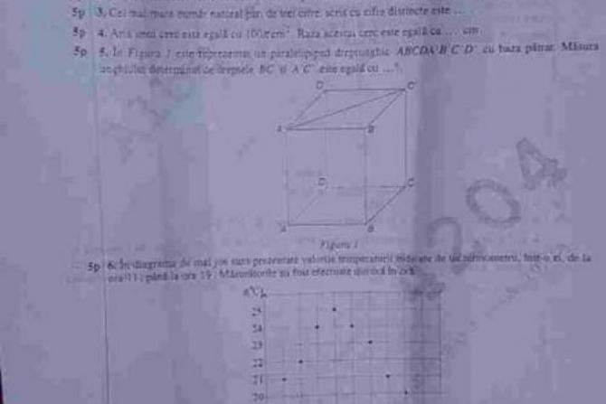 Simulare Clasa A 8 A 2019 Romana Update: SIMULARE EVALUARE NAŢIONALĂ 2019. Subiecte Matematică