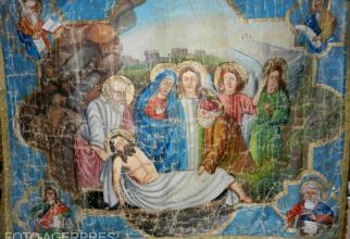 Sfantul Epitaf aflat in biserica Mormantul Domnului din Capilna de Sebes, jud. Alba.