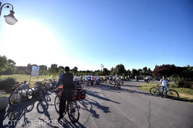 Protest biciclisti. Foto: Agerpres