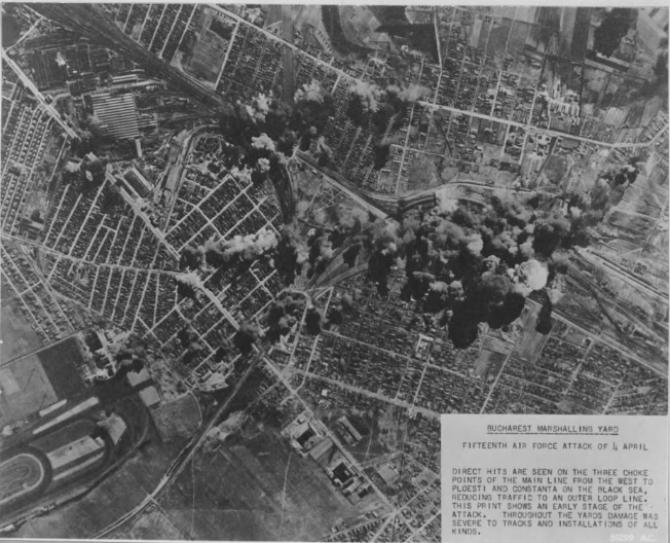 4 aprilie 1944 - 75 de ani de la cel mai mare masacru din București în urma bombardamentelor americane. foto: wikipedia