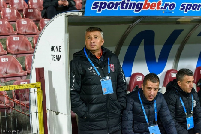 Dan Petrescu, antrenor CFR Cluj. foto: cfr1907.ro