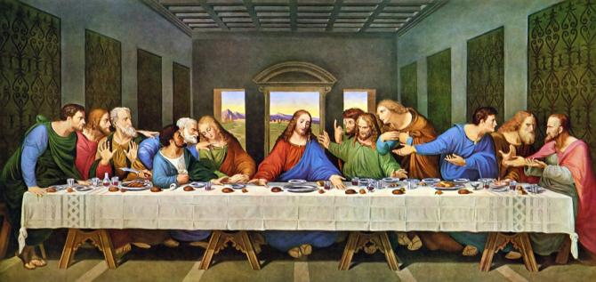 Legenda Cinei cea de Taină spune că Leonardo da Vincii ar fi avut model pentru Iisus și Iuda aceeași persoană, dar la diferență de câșiva ani