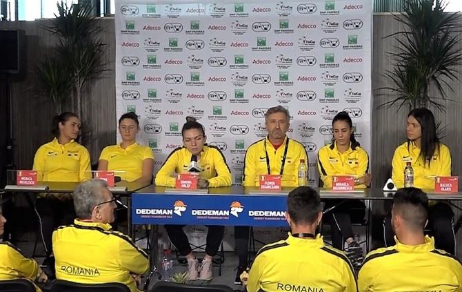 Fed Cup, Franța - România, conferință de presă