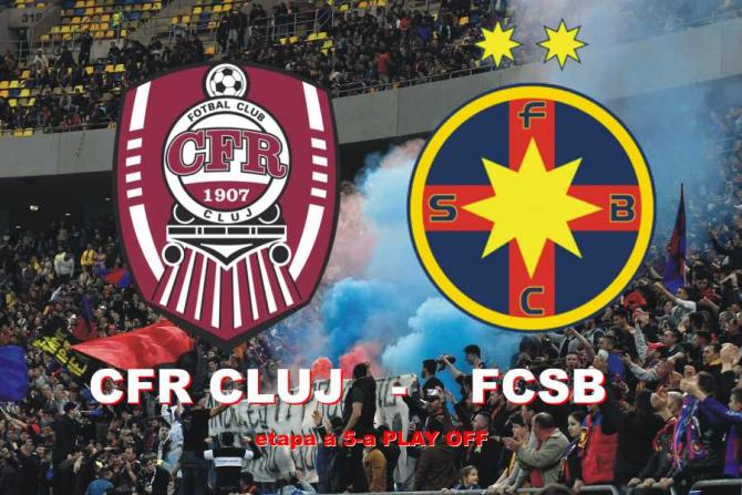 CFR Cluj - FCSB Rezultat pentru fotoliul de lider. Meci cu casa închisă
