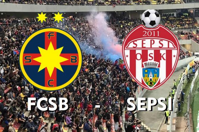 FCSB - Sepsi rezultat important în lupta pentru titlu în Play off