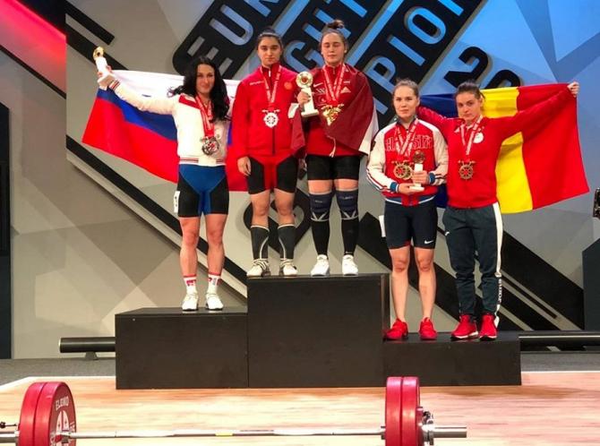 Medalie pentru România: Hulpan a ridicat 117 kg la CE de haltere. foto: @federatiaromanadehaltere / FB