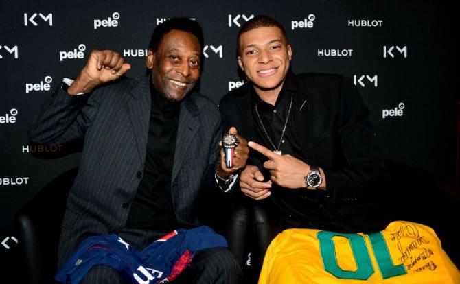 Întâlnire Mbappe - Pele: Nu voi face niciodată ce a făcut el. foto: @Hublot / FB