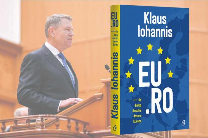 Iohannis, lansare carte - ''EU.RO. Un dialog deschis despre Europa''. Pret de vanzare