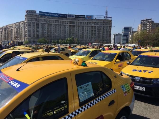 Taxi-uri - imagine ilustrativă