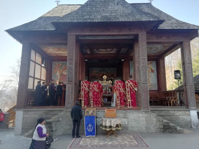 Slujbă la Mănăstirea Rohia, în A patra Duminică din Postul Paștelui