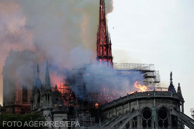 Incendiu devastator la Catedrala Notre-Dame din Paris, un simbol al Franței