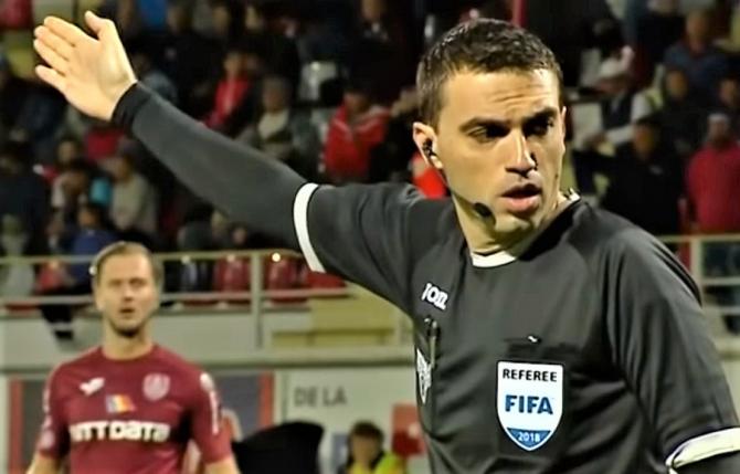Ovidiu Haţegan îl arbitrează pe Chiricheș, în Europa League