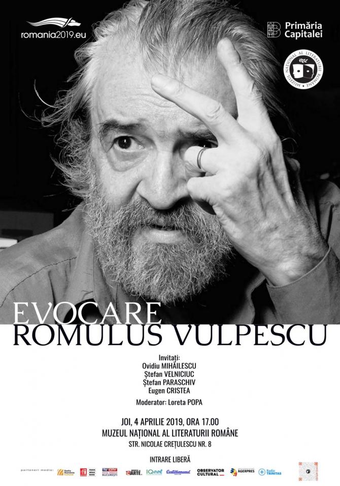Romulus Vulpescu - eveniment, 4 aprilie