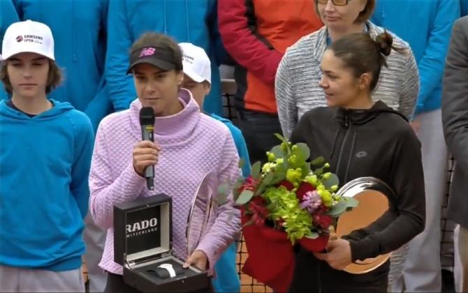 Sorana Cîrstea și Andreea Mitu, regine la Lugano. Trofeul este al lor!