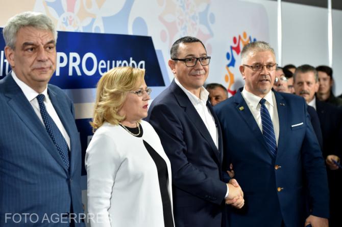 venimentul de prezentare a candidatilor la Alegerile Europarlamentare din 26 mai 2019, organizat de PRO Romania.
