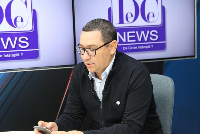 Victor Ponta, în studioul DCNews