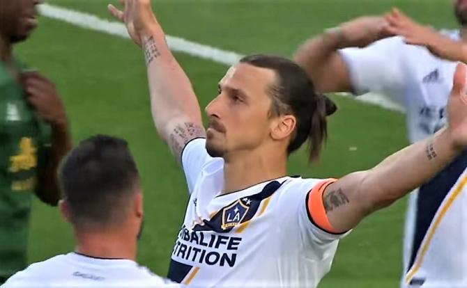 VIDEO - Zlatan Ibrahimovic, spectacol la revenirea pe teren