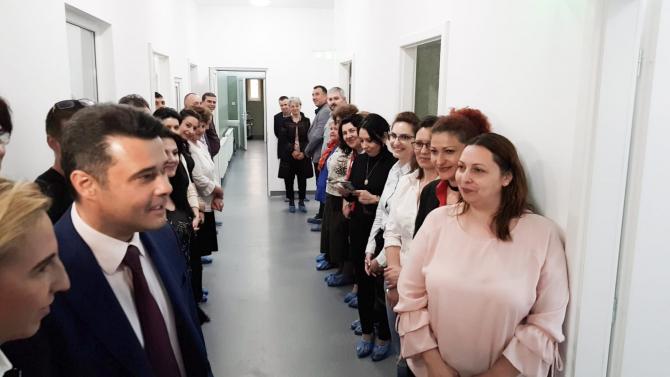 Daniel Florea, primarul Sectorului5, la inaugurarea băii și spălătoriei